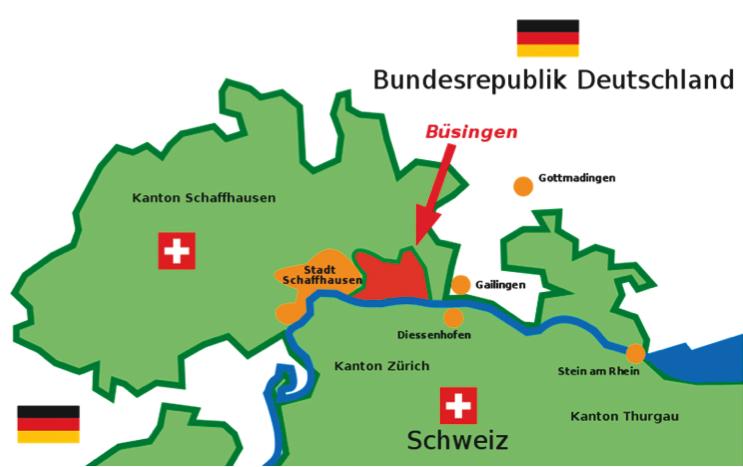 Karte Büsingen